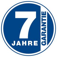 Garantie - 7 Jahre