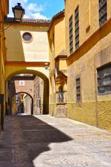 Calle de Plasencia, vista urbana, pasadizos