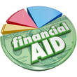 Financial Aid Money Support Help Assistance Pie Chart