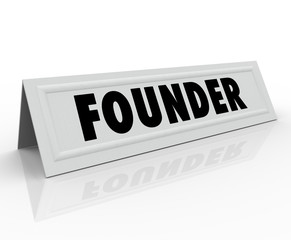 Founder Name Tent Card Company Business Owner Entrepreneur