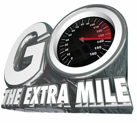 Go the Extra Mile Speedometer Additional Effort Distance Results