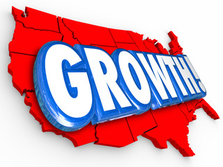 Growth United States America Country Map National USA Increase