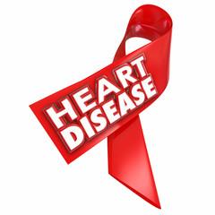 Heart Disease Awareness Ribbon Cure Coronary Condition Illness