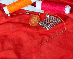 Sewing Equipment Indicates Empty Space And Dressmaker