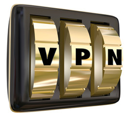 VPN Lock Dials Virtual Personal Network Internet Connection Secu
