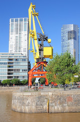 Embankment of Puerto Madero district, Buenos Aires.