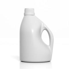 3D blank detergent bottle mockup isolated on white