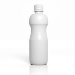 3D blank product bottle mockup isolated on white