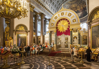 Inside the Kazan Cathedral in St. Petersburg