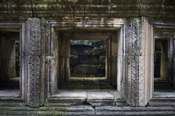Angkor Jungle Temple Crumbling Architecture