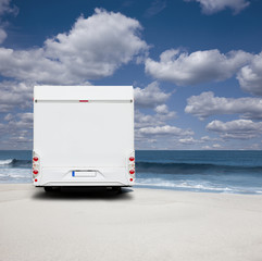 Reisemobil am Strand