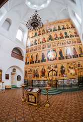 Interior of the Temple of the Trinity in Valday, Russia