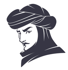 handsome and young arabian man