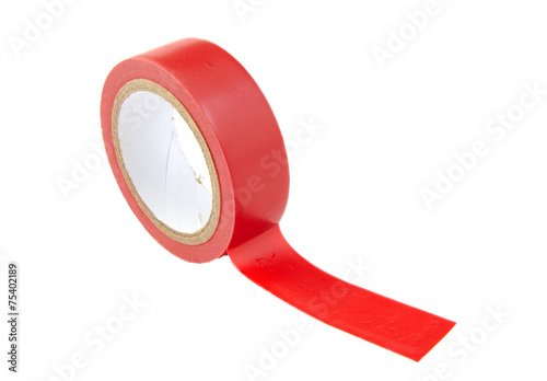 Leinwanddruck Bild Red insulating tape