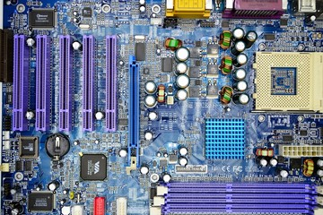 Computer motherboard in private collection on November 23, 2014