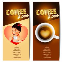 coffee menu vintage love
