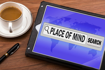 place of mind in search bar