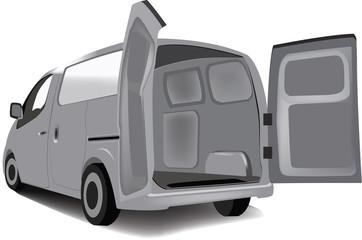 furgone aperto per il carico