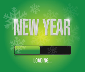 snowflakes new year loading concept