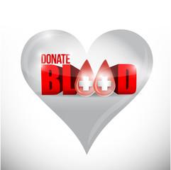 donate blood hard illustration design
