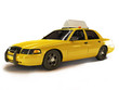Taxi cab on a white background with room for text or copyspace - 75403725