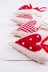 valentine fabric heart