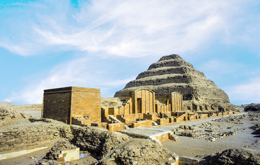 Pyramid of Djoser in the Saqqara necropolis, Egypt. UNESCO World