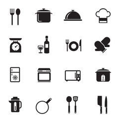 B&W icons set : Cooking Objects