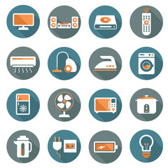 Flat icons set : Electronic Objects