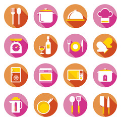 Flat icons set : Cooking Objects