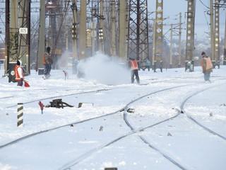Snow railway
