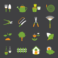Icons set : Garden Object