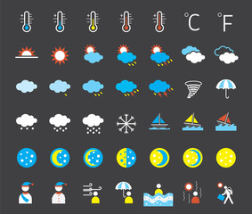 Icons set : Weather Symbols
