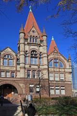 gothic style college building, University of Toronto