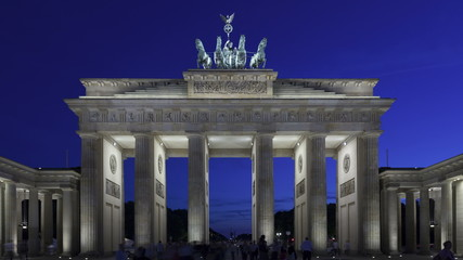 4K Time lapse Brandenburg Gate at sunset, Berlin