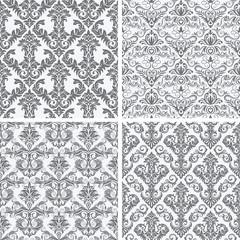 Four Seamless Damask Wallpaper