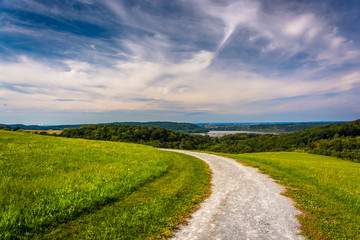 Trail and view of the Susquehanna River from High Point in Easte