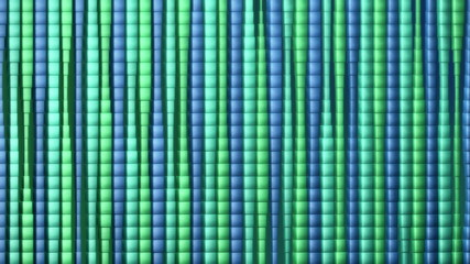 3D Looping Background - Curtain of stretching cubes