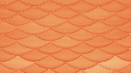 3D Looping Background - Orange shimmering scales