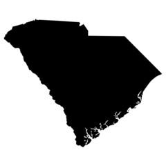 map of the U.S. state of South Carolina