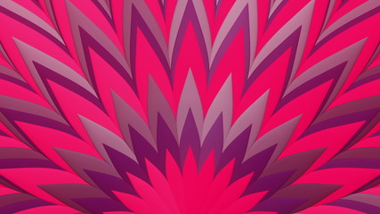 3D Looping Background - Magenta feather pattern