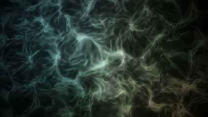3D Looping Background - Green electric fluid