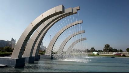 Fountain in Abu Dhabi, UAE