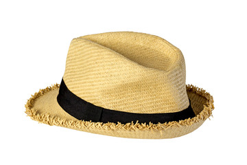 Beautiful Weaving hat on white background