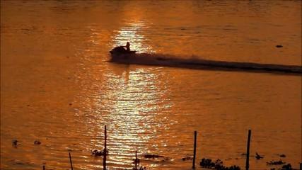 Jet Skis on Golden Sunset