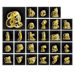 3Dテキスト-アルファベット小文字-
