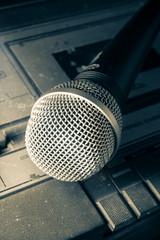 Radio sound equipment and microphone