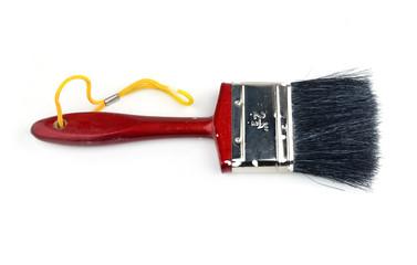 red paintbrush isolated on white background