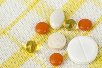 A few assorted pills