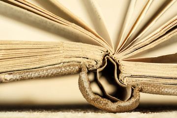The old book is open